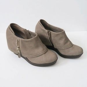 Dr. Scholl's Comfort Wedge Booties Faux Leather